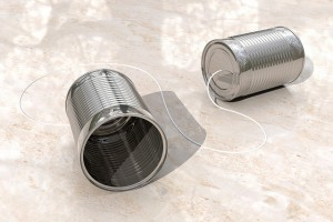 Tin can phones, CC BY StockMonkeys.com