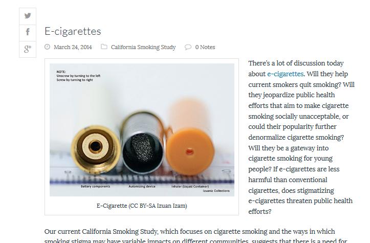 Ecigarettes post snapshot