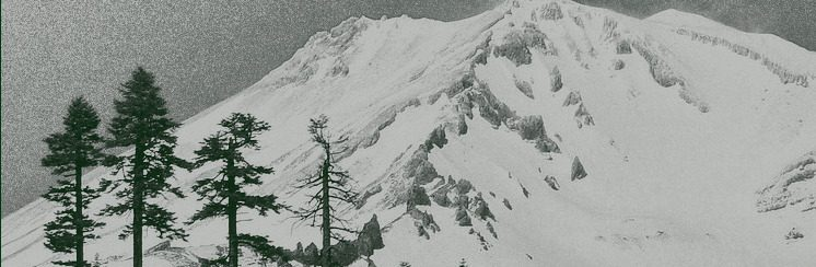 Mountain and tree landscape